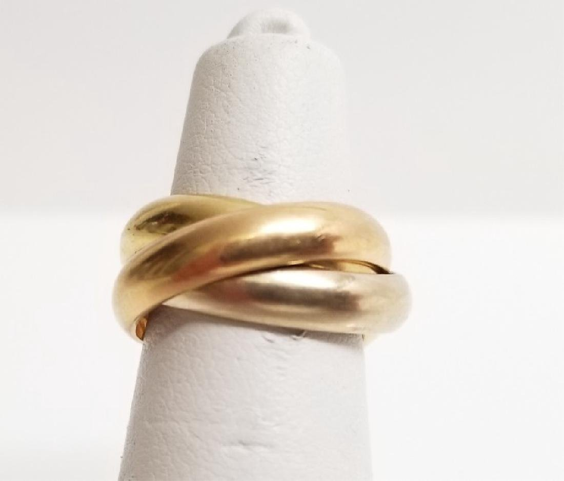 Estate Cartier 18kt Trinity Rolling Band Ring - 6
