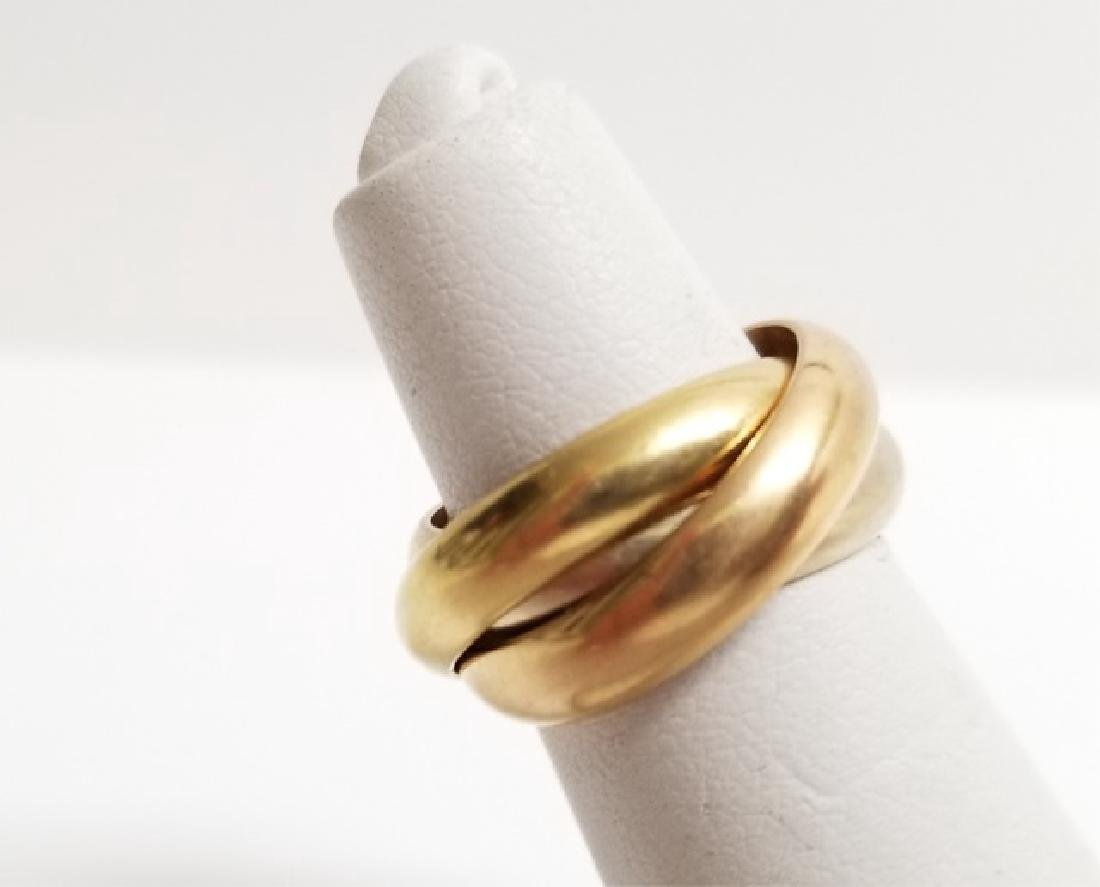 Estate Cartier 18kt Trinity Rolling Band Ring - 7