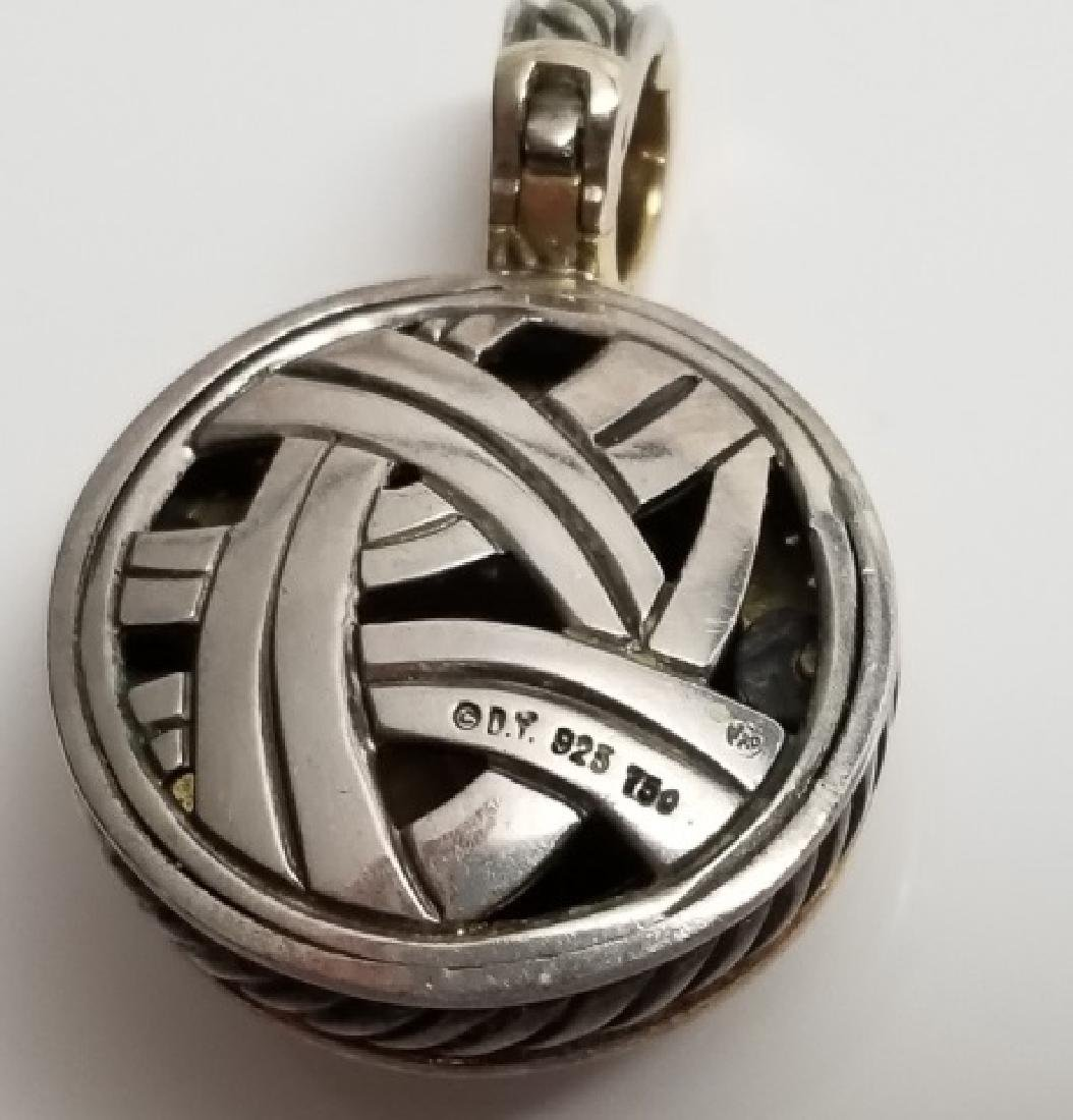 David Yurman 18kt Sterling Pendant Quartz Diamonds - 6