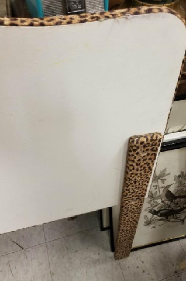 Custom Made Tufted Cheetah Fabric Headboard - 2