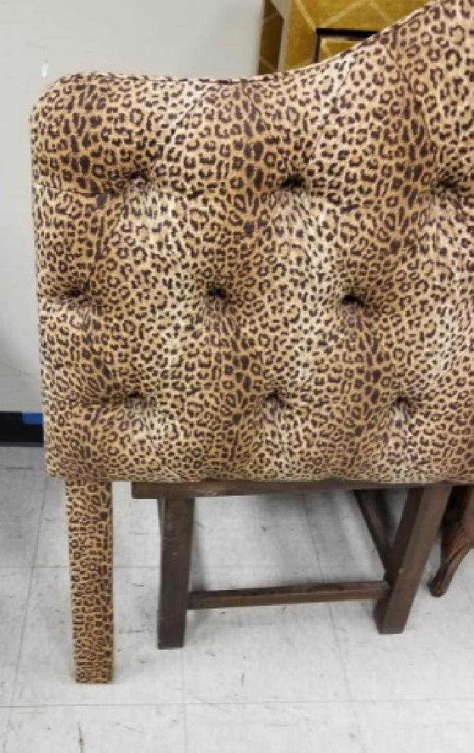 Custom Made Tufted Cheetah Fabric Headboard - 3