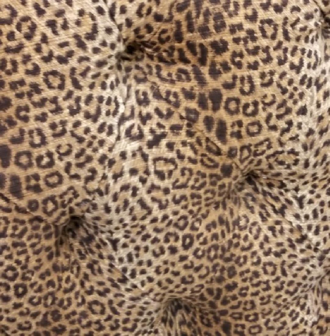 Custom Made Tufted Cheetah Fabric Headboard - 5