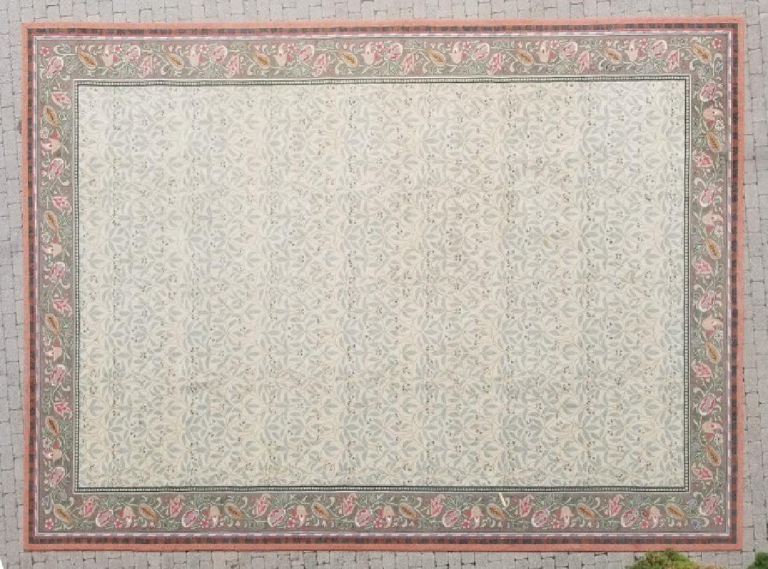 Lrg Custom-Made Stark Style Floral Finished Carpet