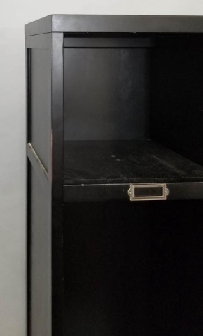 2-Piece PB Black Shelves & Lower Drawer Unit - 2
