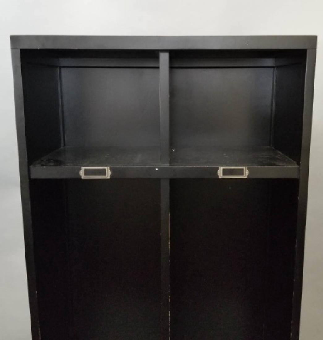 2-Piece PB Black Shelves & Lower Drawer Unit - 4