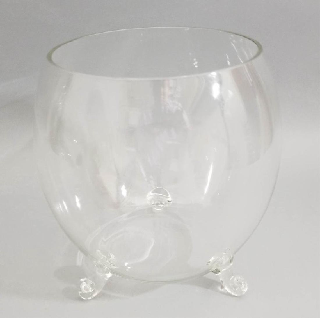 Pair Blown Art Glass Footed Urn Form Vases - 3