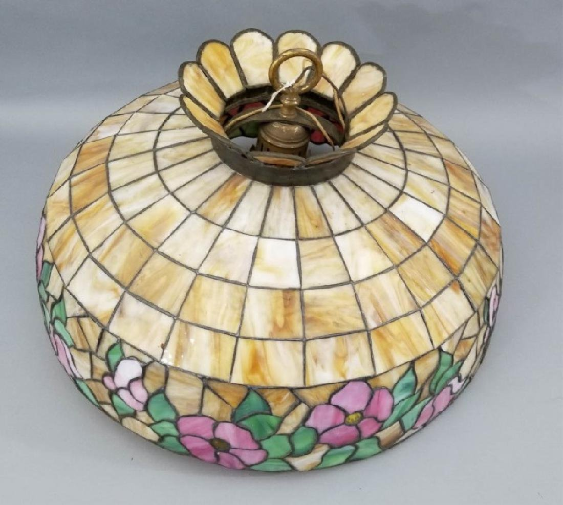 Tiffany Style Stained Glass Floral Chandelier - 3