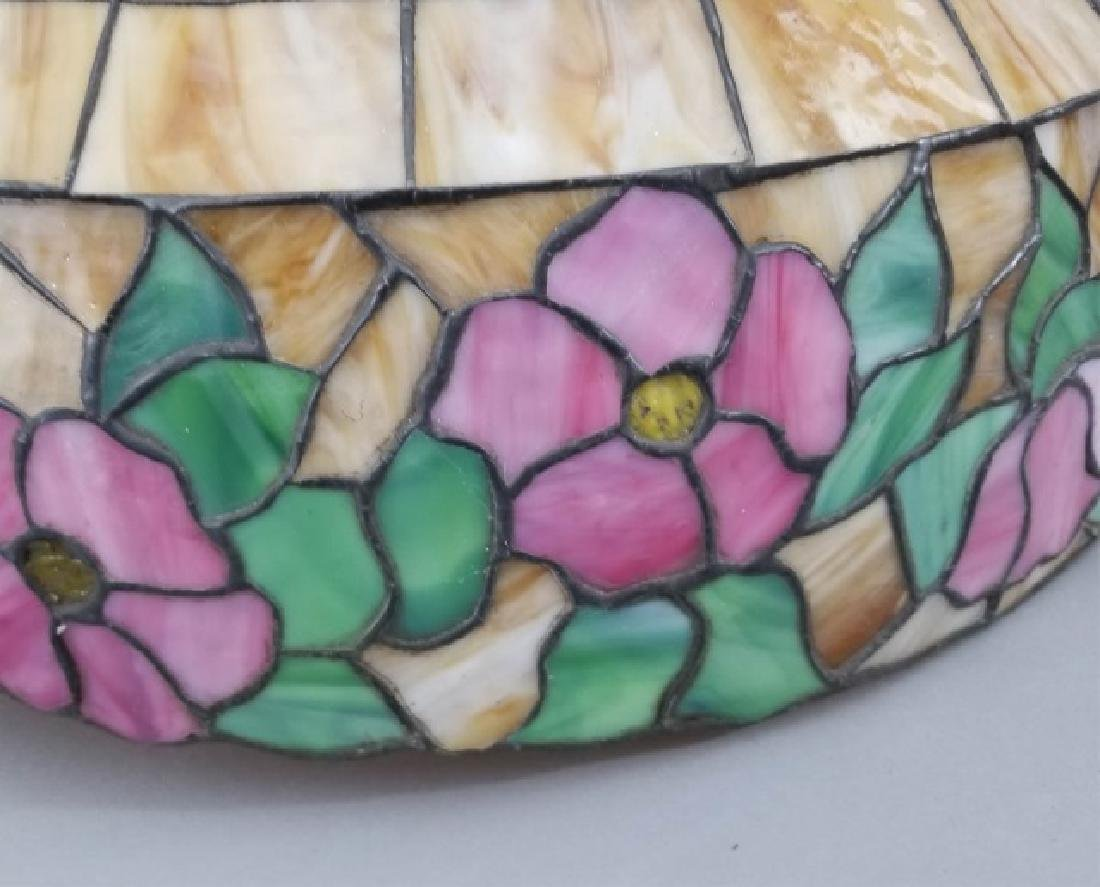 Tiffany Style Stained Glass Floral Chandelier - 6