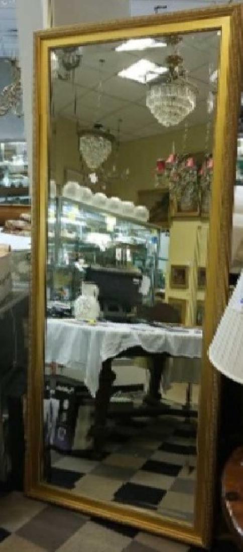 Custom Full Length Pier Gold Framed Beveled Mirror