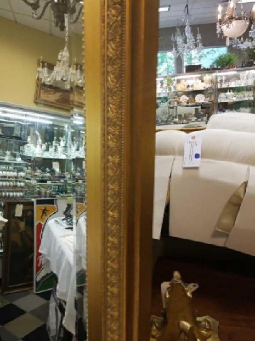 Custom Full Length Pier Gold Framed Beveled Mirror - 4