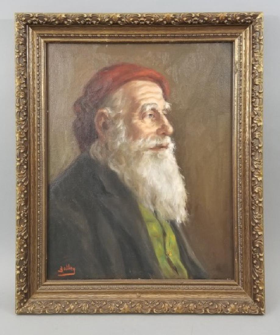 Yalley - Signed Portrait Painting of a Man