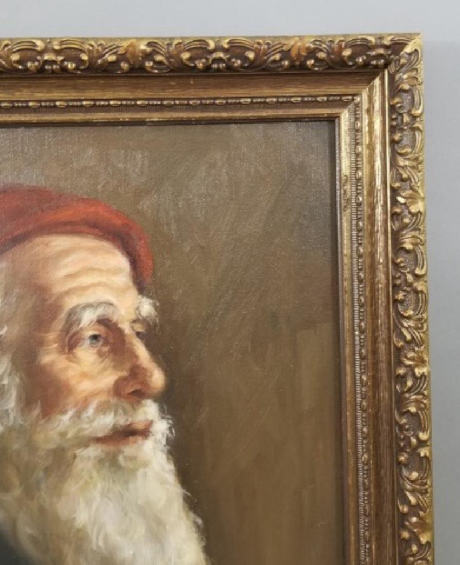 Yalley - Signed Portrait Painting of a Man - 7