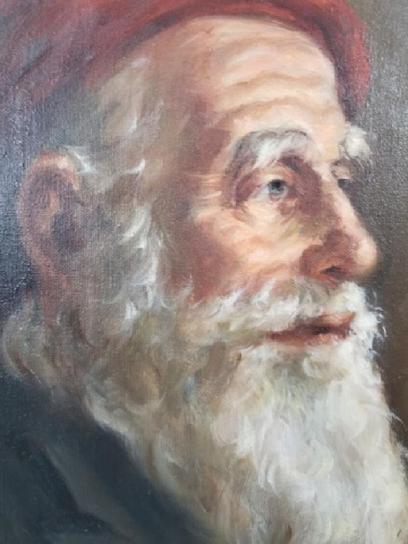 Yalley - Signed Portrait Painting of a Man - 8