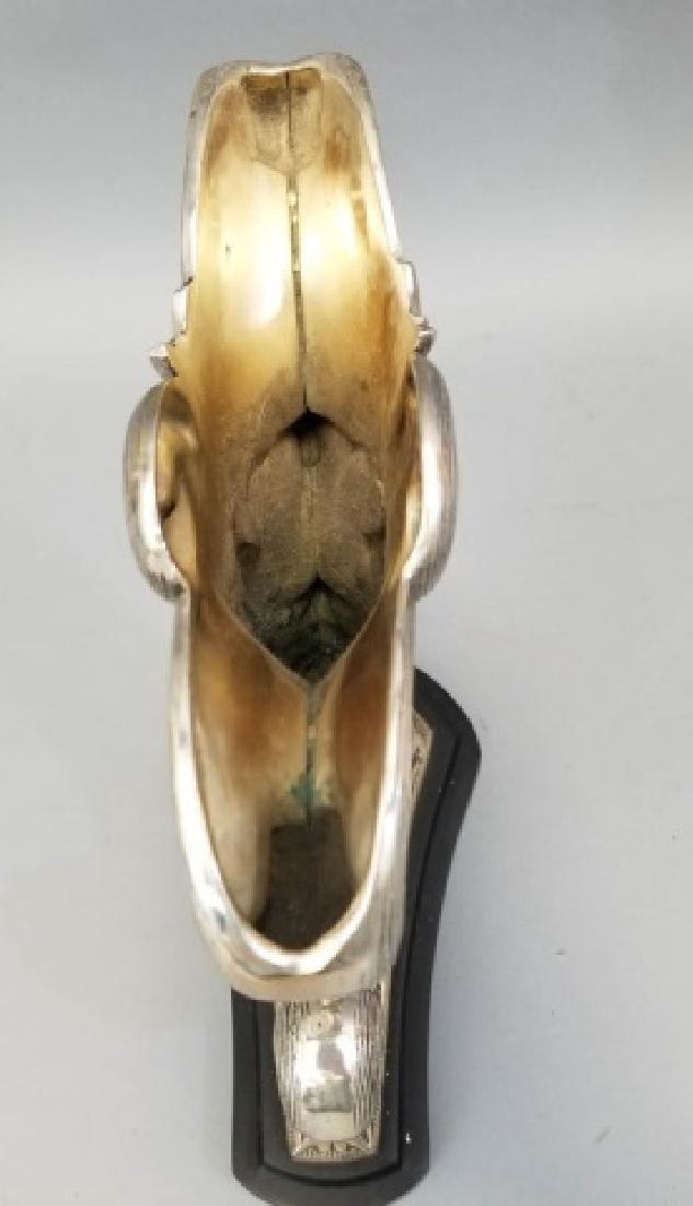 Pair of Silver-Tone Cornucopia Accent Pieces - 2