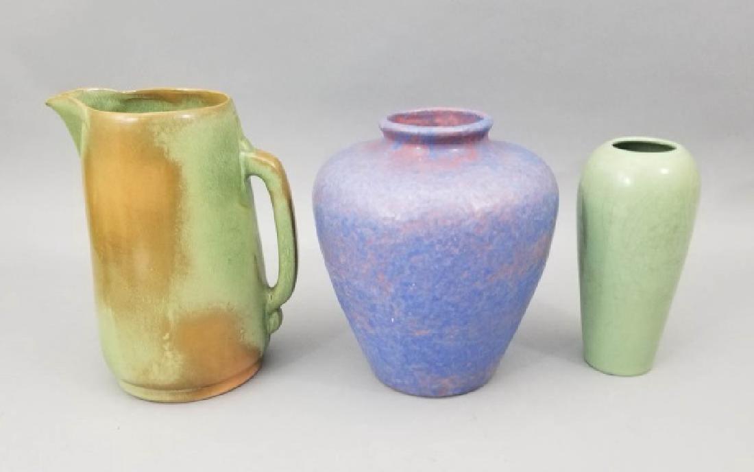 Three Art Pottery Items - Vases & Pitcher