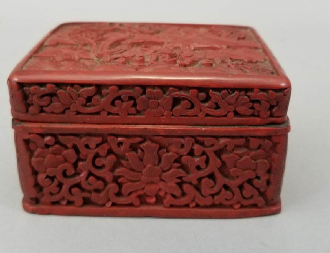 Two Chinese Table Articles - Cinnabar & Enamel - 5