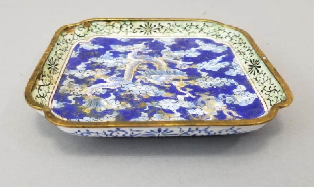 Two Chinese Table Articles - Cinnabar & Enamel - 7