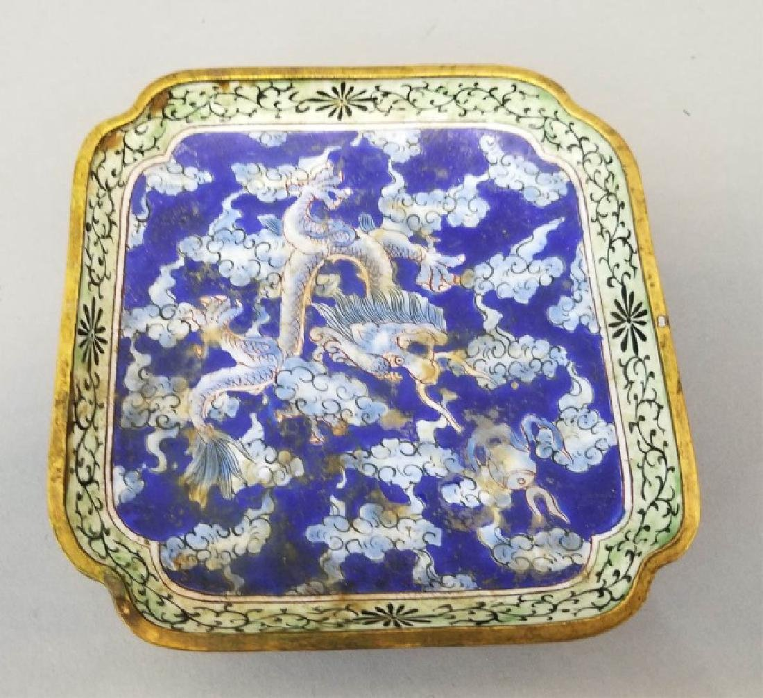 Two Chinese Table Articles - Cinnabar & Enamel - 8