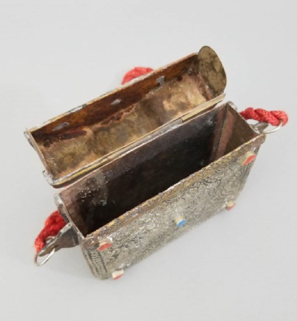 2 Silver & Brass Moroccan Items - Purse & Canteen - 5