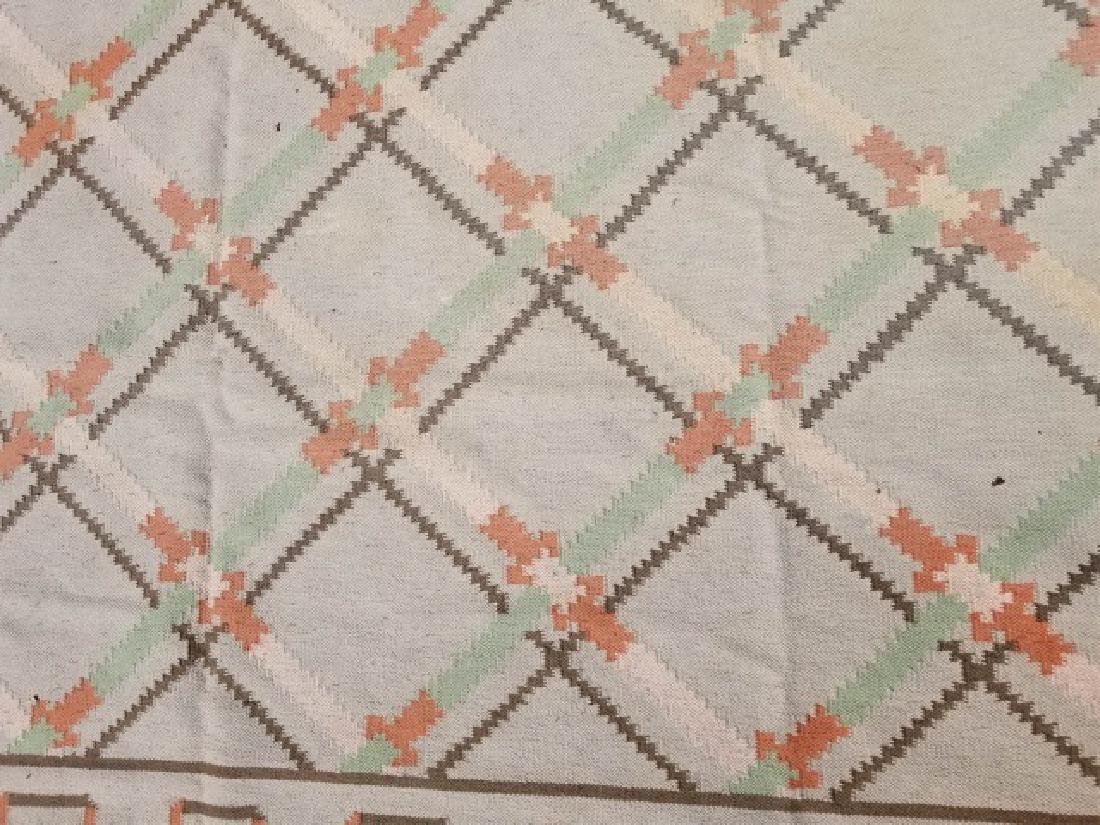 Large Kilim Wool Rug in Beige & Peach Colors - 7
