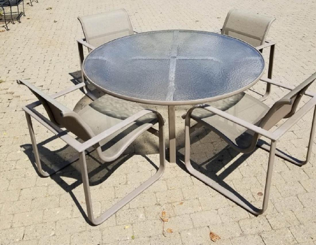 Brown Jordan Patio Dining Table and 4 Chairs