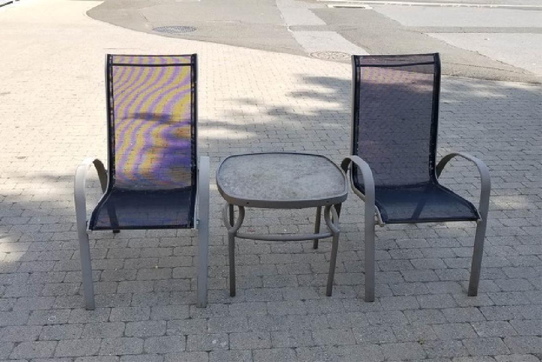 Pr Brown Jordan Outdoor Patio Chairs & Side Table