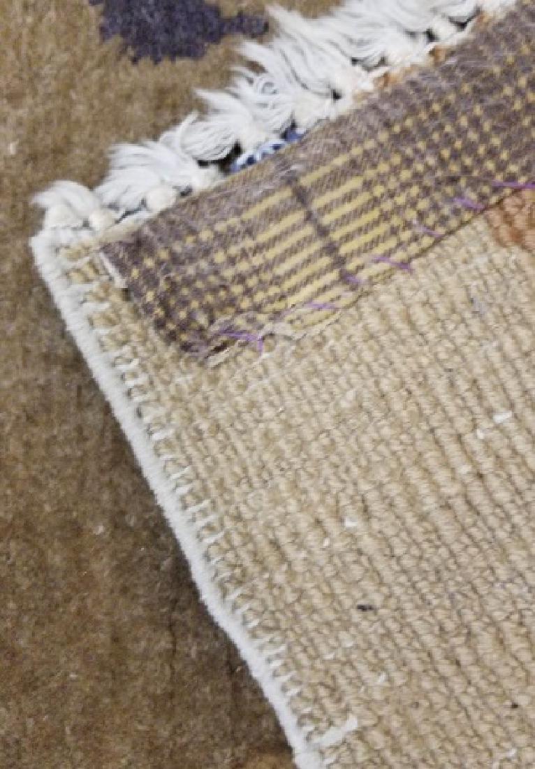 Chinese Wool Earthtone Runner or Small Rug - 2
