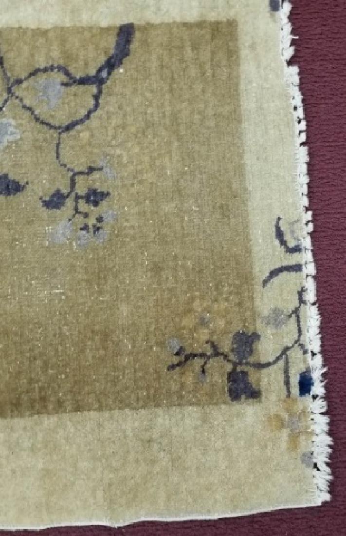 Chinese Wool Earthtone Runner or Small Rug - 3