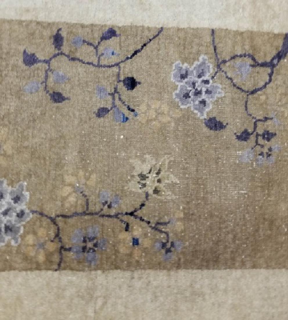Chinese Wool Earthtone Runner or Small Rug - 4