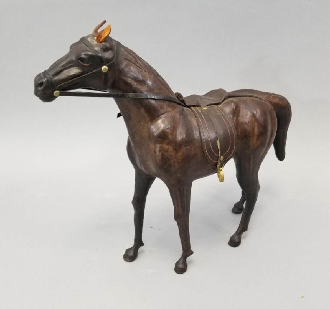 Handmade Leather Equestrian Statue of a Horse - 7