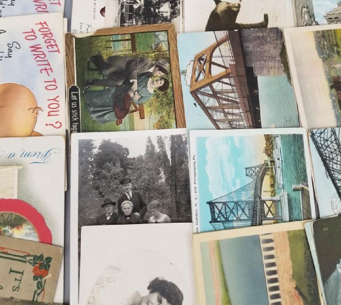 Group Antique & Vintage Post Cards Bridges Canals - 9