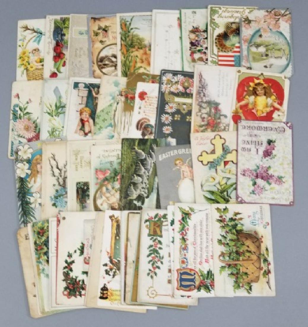 Antique Holiday Post Cards 23 Christmas 25 Holiday