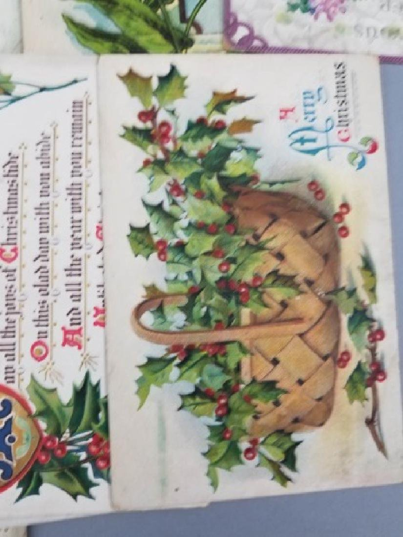 Antique Holiday Post Cards 23 Christmas 25 Holiday - 7