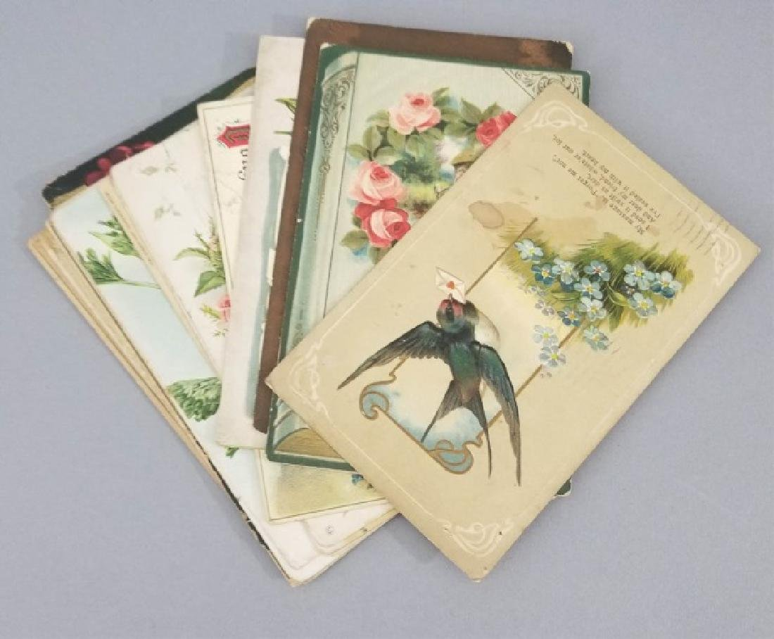 Group of 40+ Antique Floral Birthday Post Cards - 2