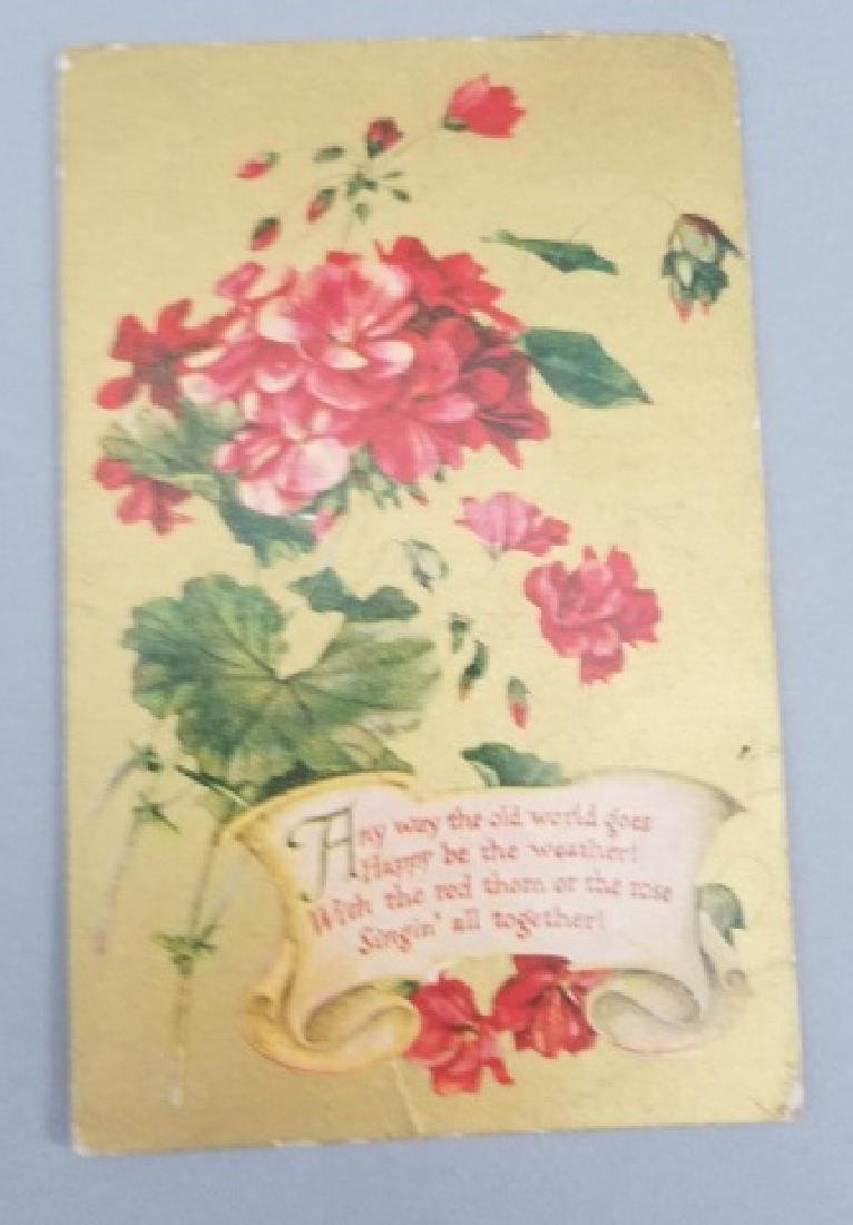 Group of 40+ Antique Floral Birthday Post Cards - 3
