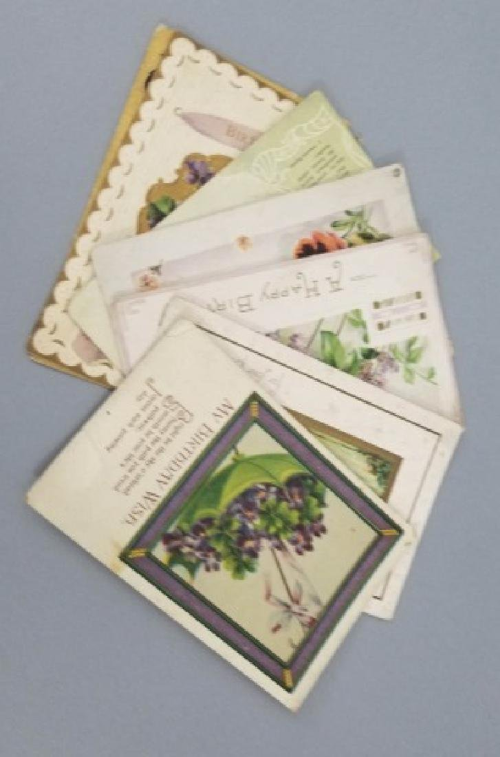 Group of 40+ Antique Floral Birthday Post Cards - 6