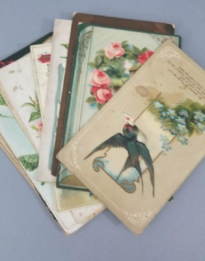 Group of 40+ Antique Floral Birthday Post Cards - 8