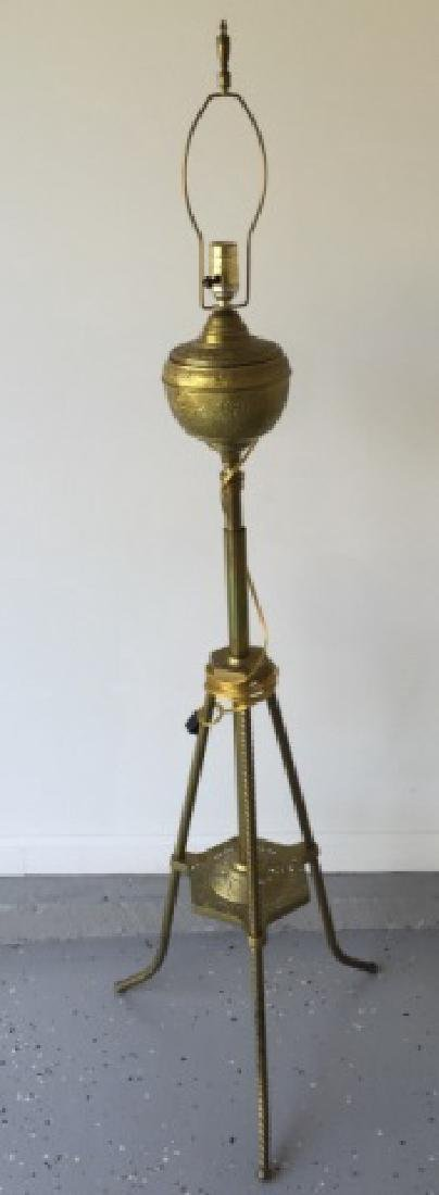 Antique 19th C Victorian Ormolu Floor Lamp