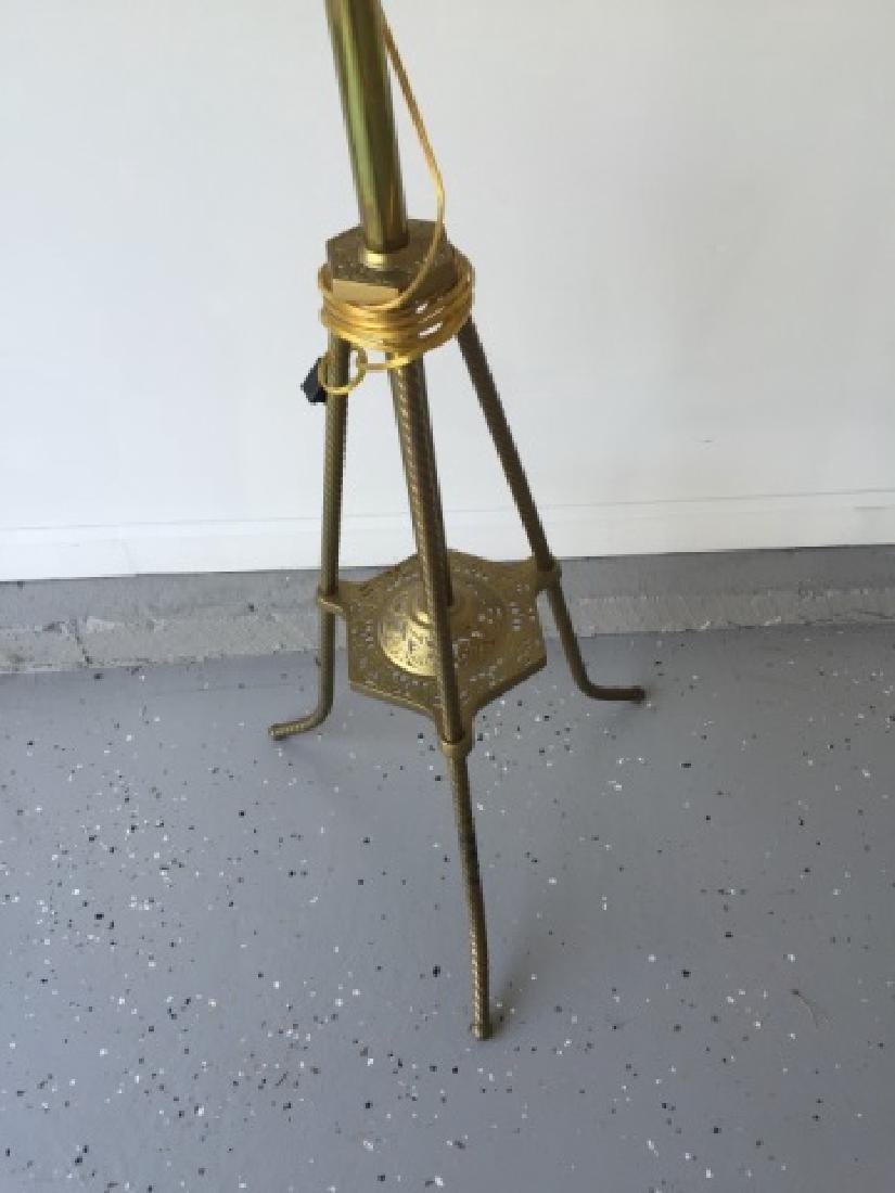 Antique 19th C Victorian Ormolu Floor Lamp - 3