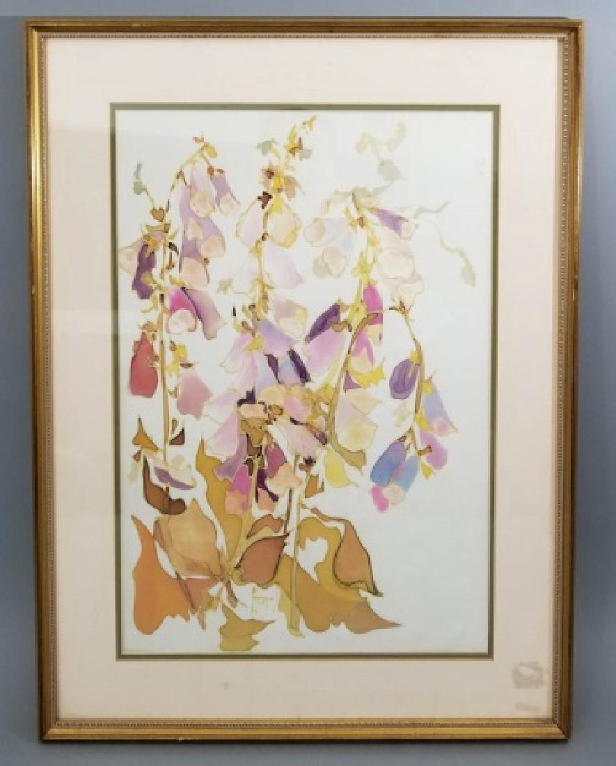 Hazel Burroughs Still Life Painting on Silk