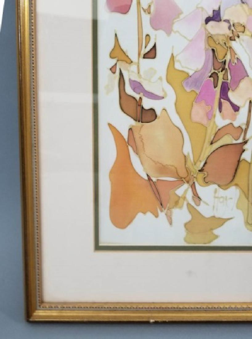 Hazel Burroughs Still Life Painting on Silk - 4