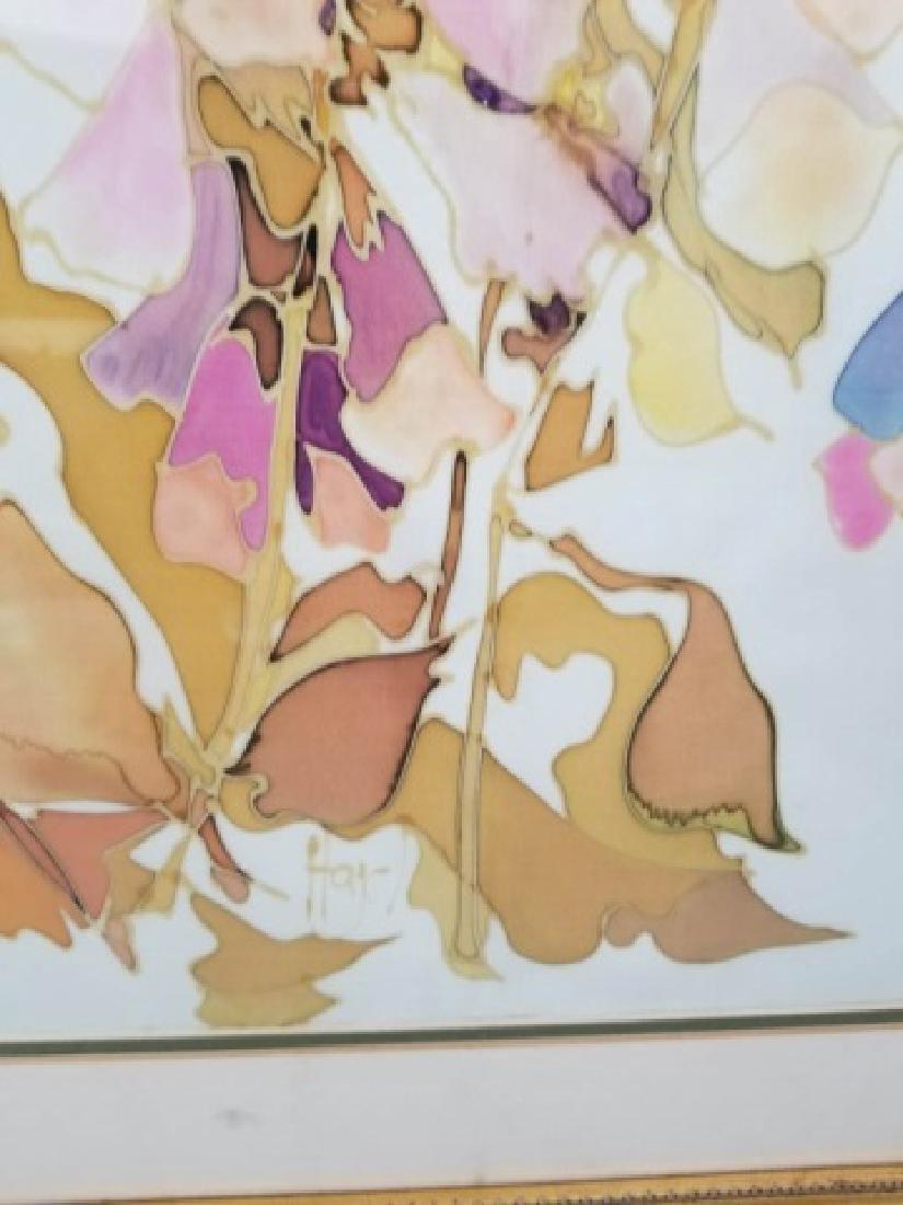 Hazel Burroughs Still Life Painting on Silk - 8