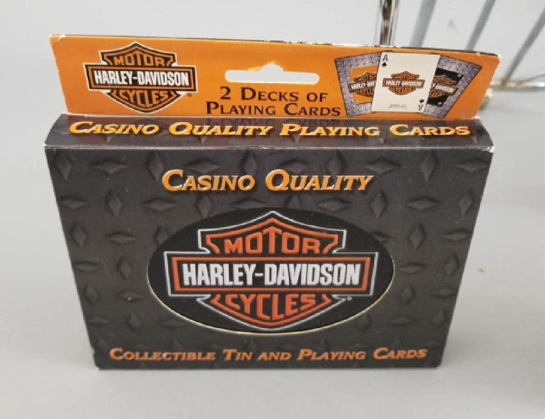 3 Vintage Harley-Davidson Items Luggage Rack Cards - 3