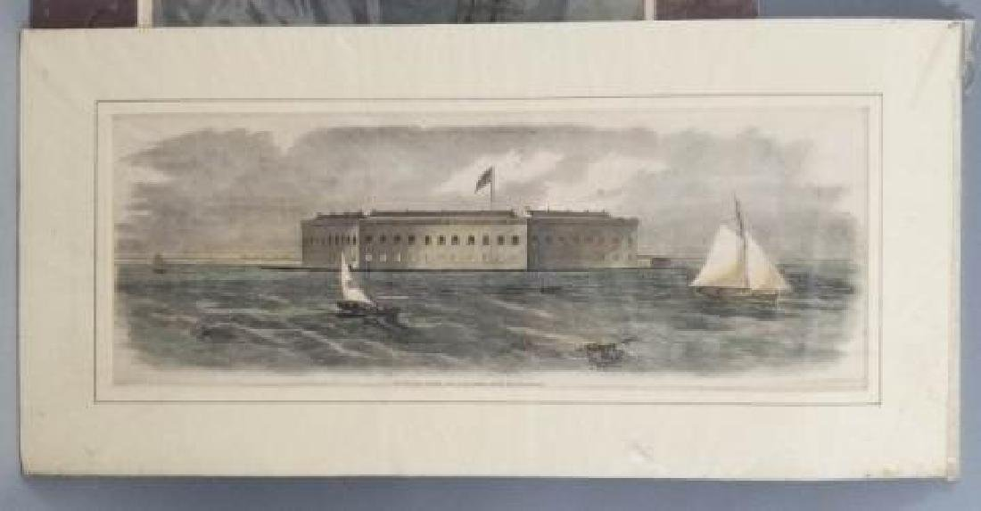 4 19thC Hand Colored Engravings - Nautical Theme - 3