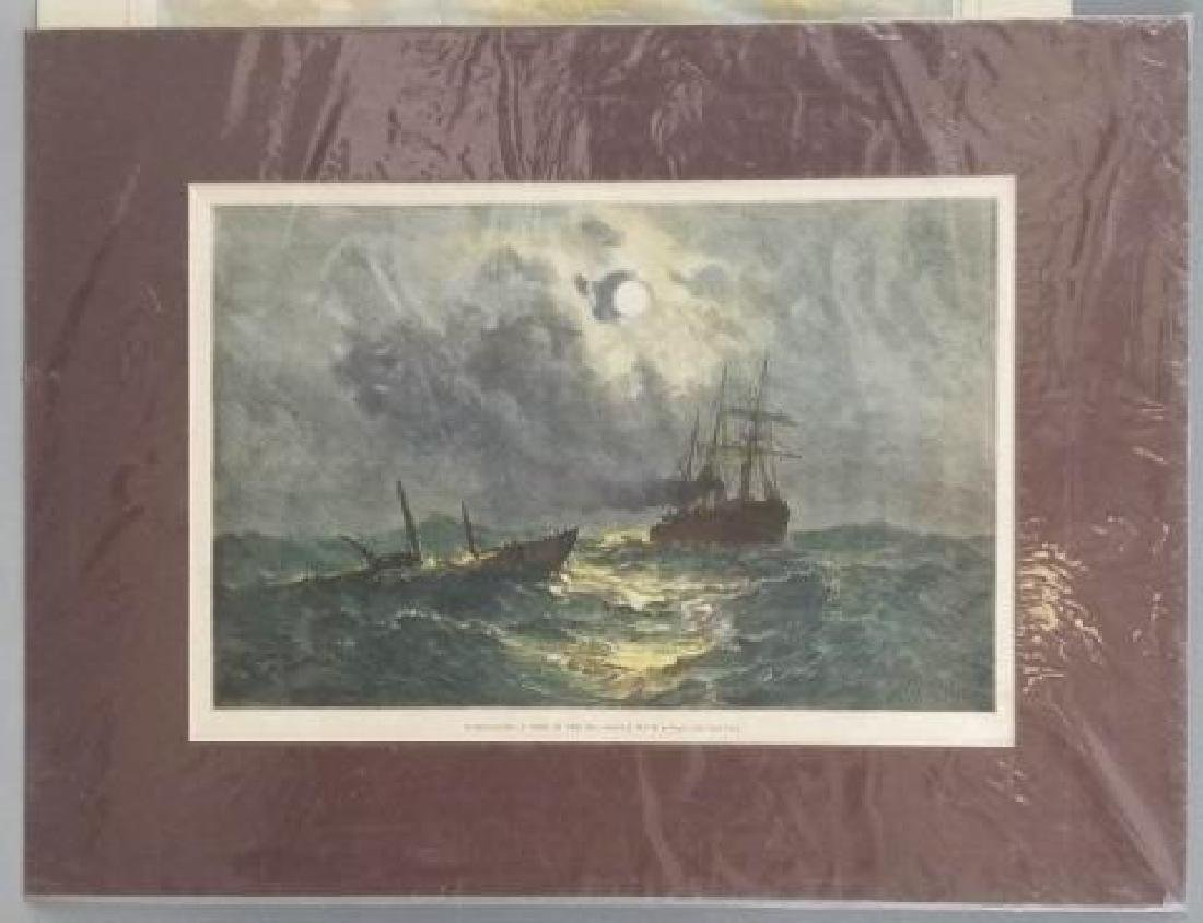 4 19thC Hand Colored Engravings - Nautical Theme - 5