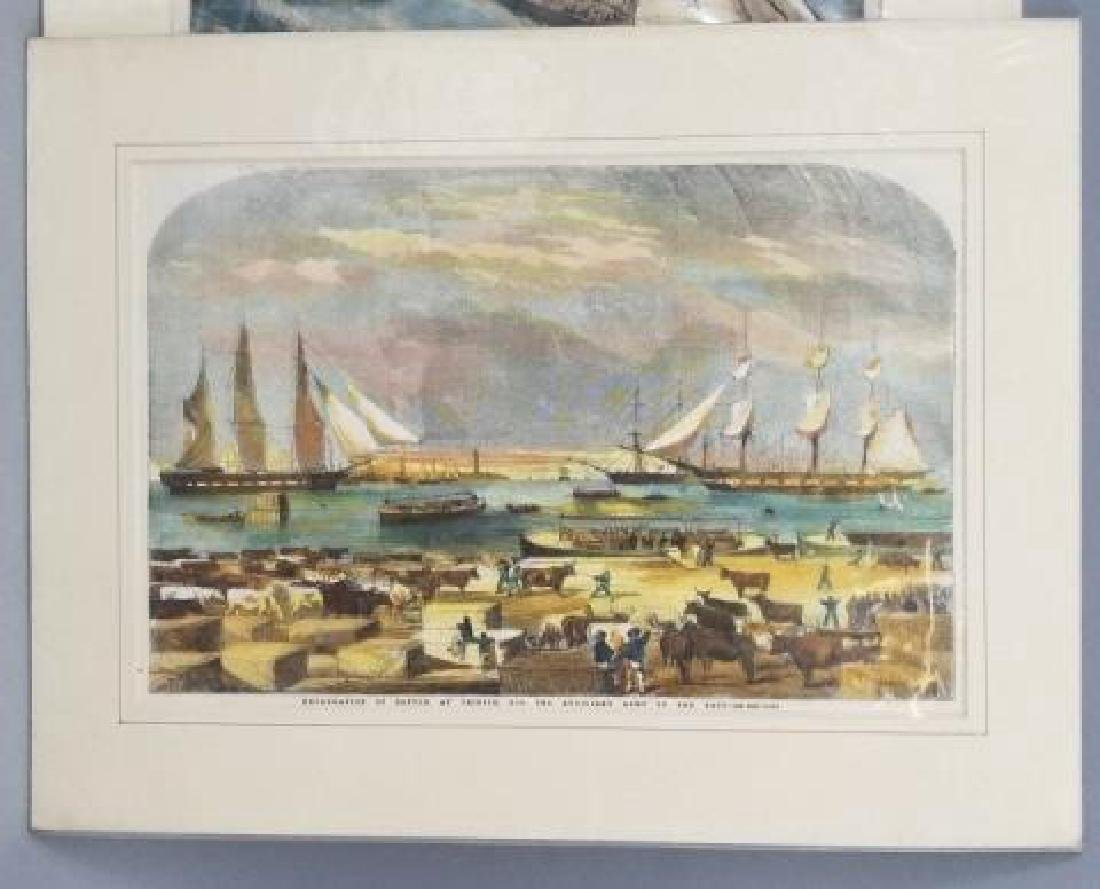 4 19thC Hand Colored Engravings - Nautical Theme - 7