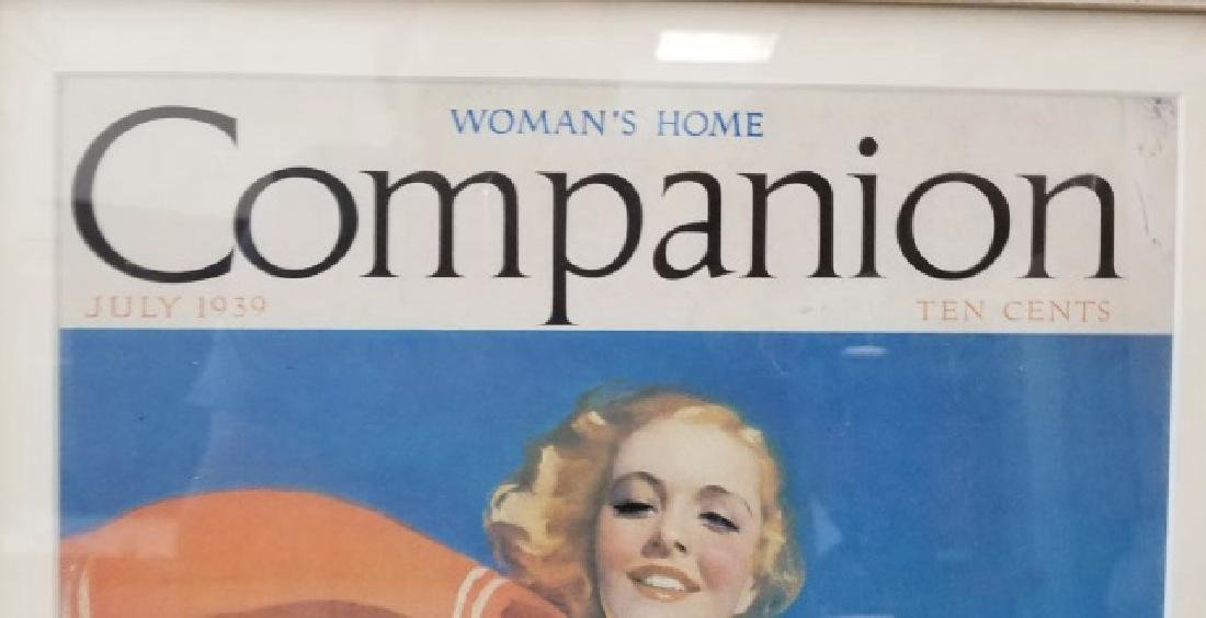 Vintage Framed 1939 Woman's Home Companion Cover - 6