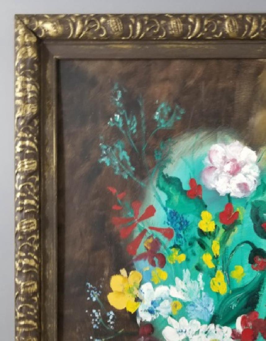 Signed Still Life of Flowers on Canvas, 1973 - 3