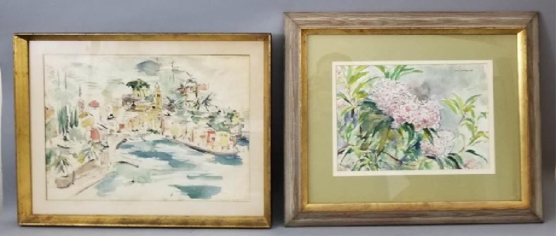 Connecticut watercolor artists directory - 2 Watercolor Paintings By Grace Huntley Pugh