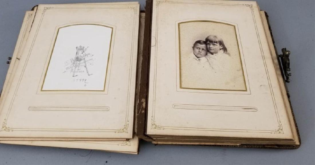 Antique 19th C Victorian Cabinet Card Photo Album